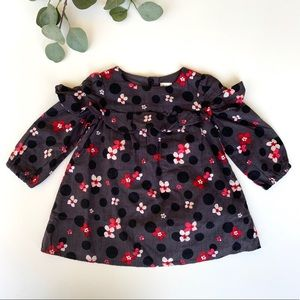 Gap Baby Floral Ruffle Polka Dot Swing Dress